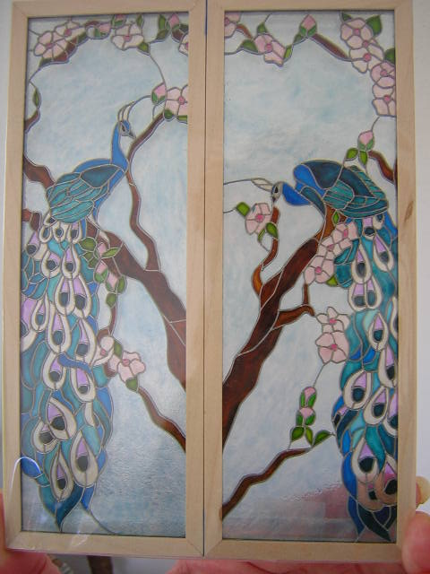 Peacock panels R/L